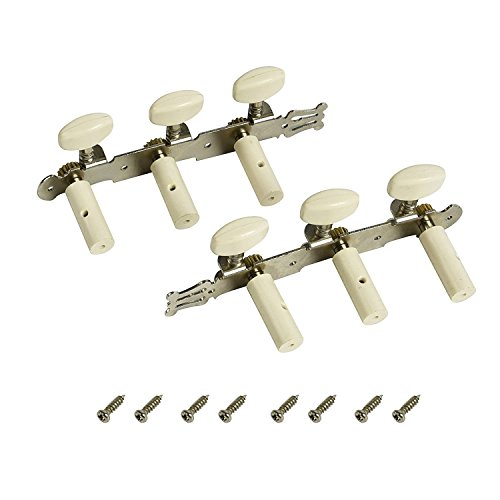 FINO Guitar Machine Head,6 String Tuning Pegs for 3L3R Classic Guitar, Right Hand Chrome Tuner Guitar Parts 1 Set