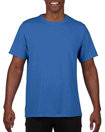 Gildan Men's Performance 100% Polyester T-Shirt, Royal, Large