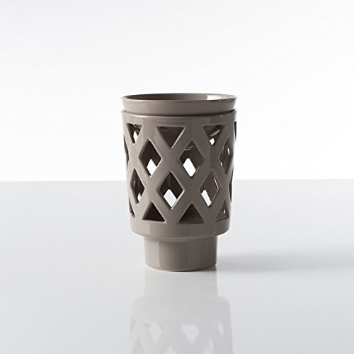Torre & Tagus 901977 Linens Odeon Ceramic Oil Burner, Taupe