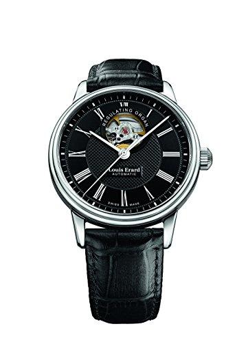 Louis Erard Heritage Collection Skeleton Swiss Automatic Black Dial Men's Watch 60266AA42.BDC82