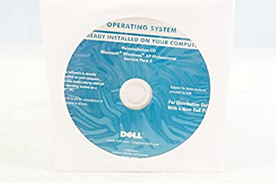 Dell Operating System Reinstallation CD Driver Microsoft Windows XP Professional + Service Pack 3 PC Software Program Installation Disc Year 2009 Part Number YH3KD-Sealed New