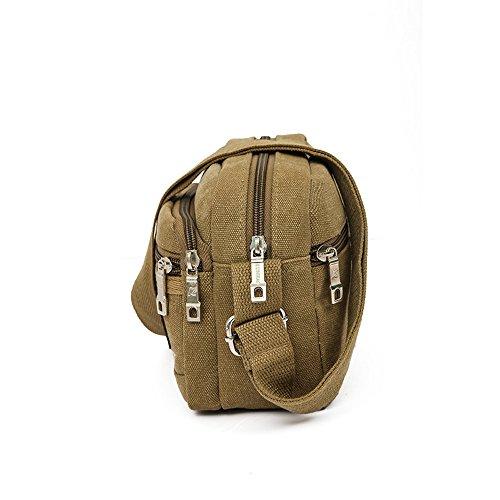 Bolsas de lona para hombres, Kukul Bolsos de hombro - 2017 Men's Crossbody Bag Men Messenger Bags (23CM*8CM*17CM) Caqui