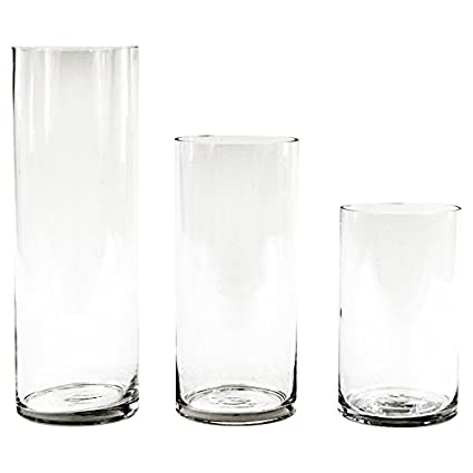 Amazon Koyal Wholesale Glass Cylinder Vases Set Of 3 For
