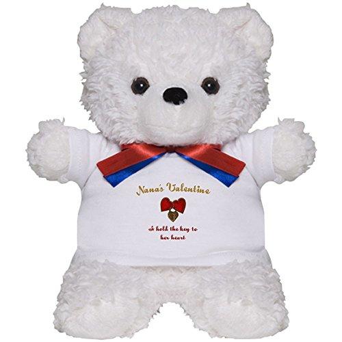 CafePress - Nana's Valentine - Teddy Bear, Plush Stuffed (Nana Teddy Bear)