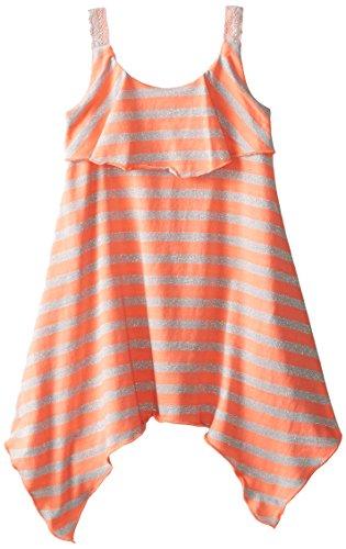 Sweet Heart Rose Little Girls' Striped Hanky-Hem Dress
