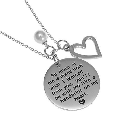Handprint on my Heart Pendant Necklace