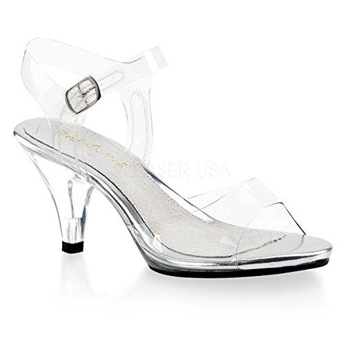 - Fabulicious Women's Belle 308 Dress Sandal, Clear, 7 M US