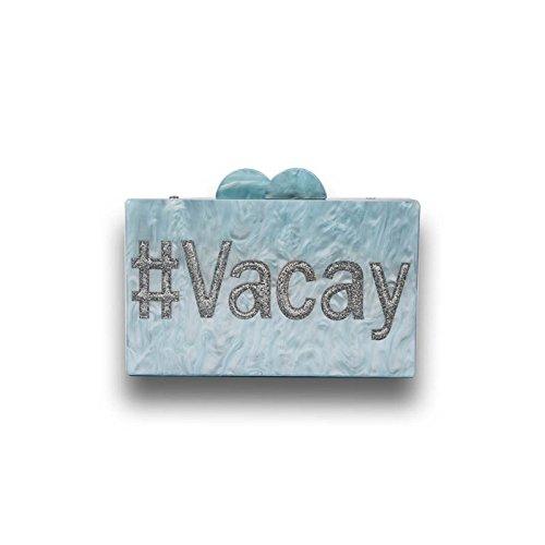 Shoulder Portable Evening Acrylic Bag Messenger Bag WenL WenL Portable YEwvz