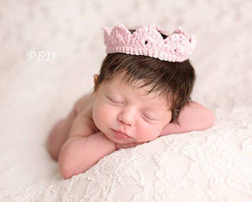 Newborn princess crown baby boy girl photo prop infant photography prop pink