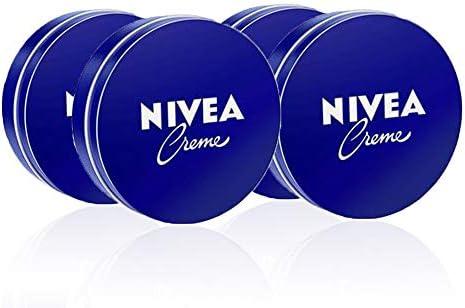 NIVEA Creme en pack de 4 (4 x 150 ml), crema hidratante de manos, cara y cuerpo para toda la familia, crema universal para una piel suave e hidratada, crema multiusos: Amazon.es: Belleza
