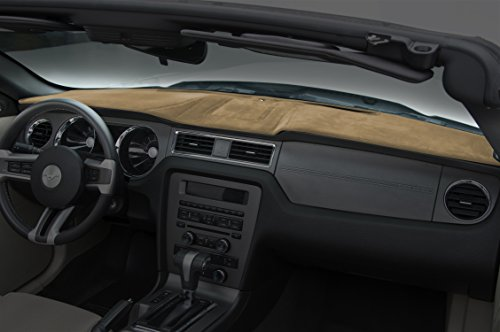 Coverking Custom Fit Dashboard Cover for Select Chrysler Voyager Models - Velour (Tan)