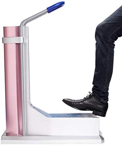 自動靴カバー機靴カバーディスペンサー、床を常に清潔で整頓します医療、工場、オフィスに適しています(ピンク)