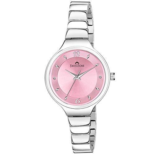 Swisstone L029 Silver Plated Bracelet Analog Wrist Watch for Women