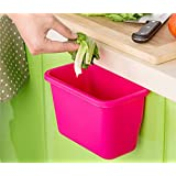 Zollyss Kitchen Cabinet Door Hanging Trash Garbage Bin Can Rubbish Container (Assorted Colors)