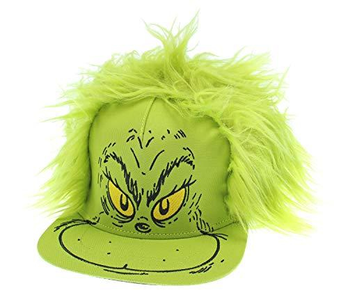 Dr. Seuss Hat Grinch Fur Hair Costume Snapback Cap
