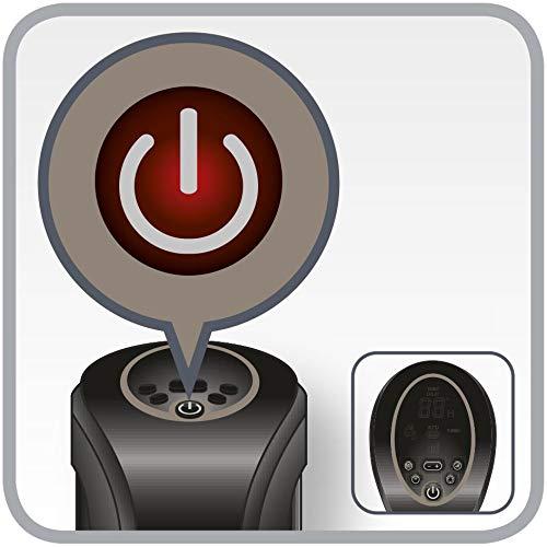 schwarz 2400 Watt, 80 cm H/öhe, 3 Leistungsstufen, 42 dB Rowenta SO9420 Intense Comfort Hot Turmheizventilator A