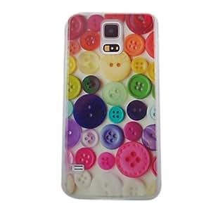 WQQ Teléfono Móvil Samsung - Cobertor Posterior - Gráfico/Diseño Especial/Transparente - para Samsung S5 i9600 ( Multi-color , Plástico )