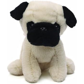 Amazoncom Melissa Doug Pug Dog Lifelike Stuffed Animal - Dog obsessed with stuffed santa toy gets to meet her idol in real life