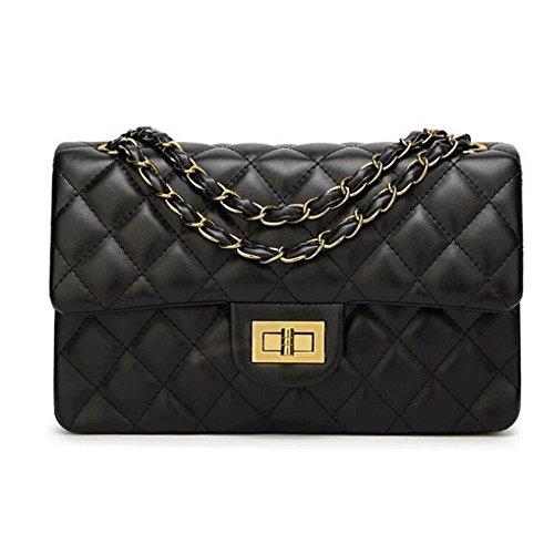 Hobo Handbag Lock Twist (Fashion Women's Handbag Quilted Shoulder Handbags Hobo Bag Crossbody Purse)