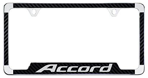 Honda Accord Simulated Carbon Fiber License Plate Frame Holder (Carbon Fiber Side Plates)