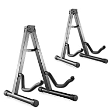 Neewer® Two Pieces Universal Portable Folding A-Frame Electric Guitar Floor Stand, Stable Musical Instrument Stand Iron / Black