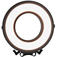 Fotodiox Pro FlapJack LED C-318RLS Rod Mounted, Bicolor Beauty Ring Light - 10-Inch Ultra-thin, Ultra-bright Professional Dual Color Edge Light, Dimmable Ringlight Kit with Case, Batteries & Charger