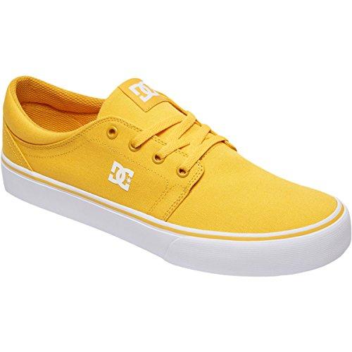 DC Men's Trase TX Skate Shoe, Yellow/Gold, 11 D (Yellow Gold Footwear)