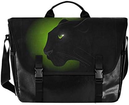 メッセンジャーバッグ メンズ キャラクター 豹柄 グリーン ブラック 斜めがけ 肩掛け カバン 大きめ キャンバス アウトドア 大容量 軽い おしゃれ