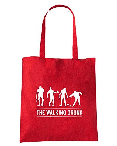 T-Shirtshock - Bolsa para la compra MAT0022 Drunk Party Zombies Maglietta Rojo
