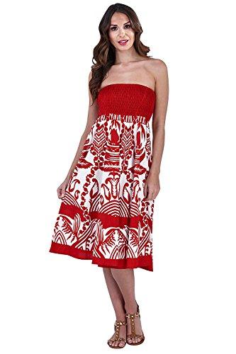 Pistachio 42 vacances Vine Rose un Robe d't 40 pour femmes en Red M pour jupe deux courte 3 EU aIaqxUrwf