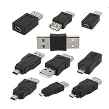 Set of 10 OTG 5pin Mini Changer Adapter Converter USB Male to Female Micro USB