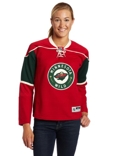 Amazon.com   NHL Minnesota Wild Women s Red NHL Premier Jersey   Sports Fan  Jerseys   Clothing 0abd506f0c9