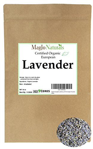 Organic European Lavender Flowers (Extra Grade) - 100% Raw From Europe (16 ounce) (Flowers Dried Herbs)
