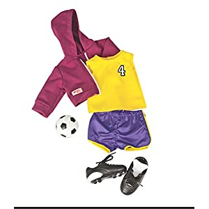Our Generation Team Player Soccer Outfit for 18-Inch Dolls