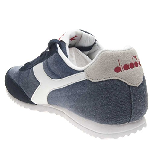 Diadora Dark Jog Adults' Low C Neck Denim Sneaker Unisex Light Blue WW7nrzPp