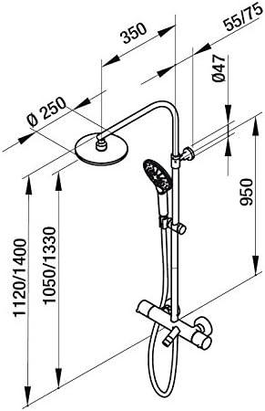 Grb time - Termostatica baño-ducha female columna telescopica ...