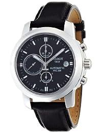 Tissot Men's T0144271605100 PRC200 Automatic Black Chronograph Dial Watch