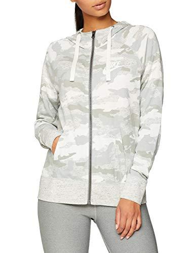 Nike Women's Sportswear Gym Vintage Camo Full-Zip Hoodie (Light Pumice, X-Large) (Womens Full Zip Camo)