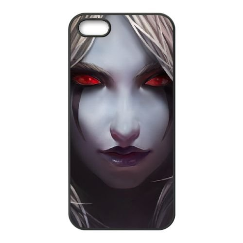 Sylvanas Windrunner coque iPhone 5 5s cellulaire cas coque de téléphone cas téléphone cellulaire noir couvercle EEECBCAAN08555