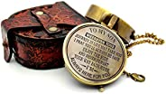 5MOONSUN5's Engraved Brass Compass Gift to My Son/Nautical Gift for Son from Dad/Gift to Son from Mom/Gift