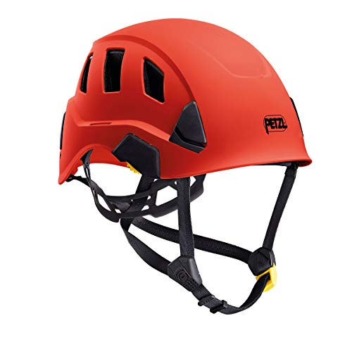 (Petzl Strato Vent Rope Access Rescue Red Helmet ANSI)