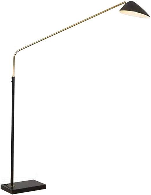 HKLY Lámpara de Pie Negro, Lámpara de pie LED Diseño Moderno 12W Lampara pie Metal con Base cuadrada de Mármol Iluminación Interior para Salón Dormitorio Estudio y Leer Habitación: Amazon.es: Iluminación
