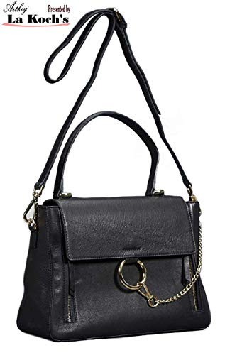 (ARTKIY Handcrafted Elegant Handbags Calf Leather Satchel Shoulder Crossbody Top Handle)