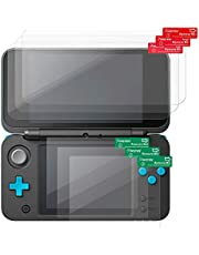 Nintendo New 2DS XL Screen Protector, Insten 3-Pack Top & Bottom Clear LCD Screen Protector [Anti-Fingerprint] [Bubble-Free] Shield Guard Film Compatible with Nintendo New 2DS XL