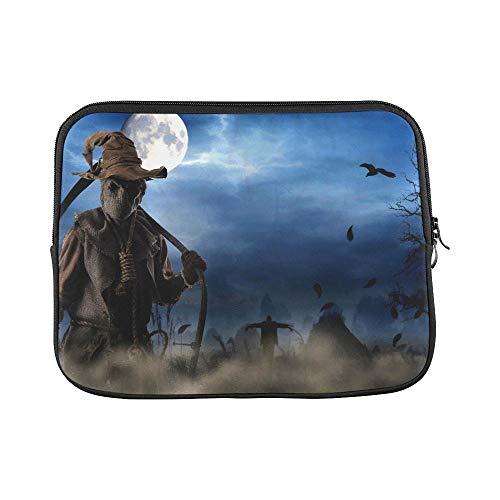 Design Custom Death Scythe in The Dark Night of Halloween Sleeve Soft Laptop Case Bag Pouch Skin for MacBook Air 11