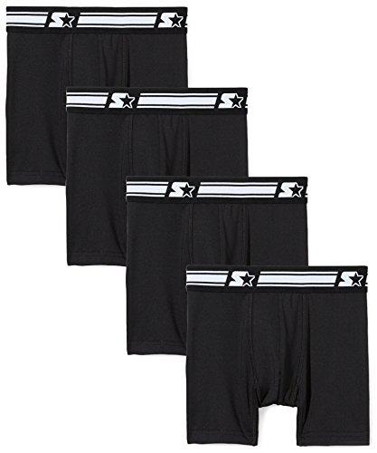 (Starter Boys' Boxer Briefs 4-Pack, Amazon Exclusive, Black, XL (16/18))