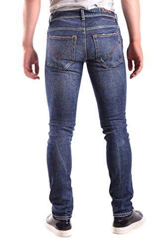 Dondup Homme MCBI100092O Bleu Coton Pantalon
