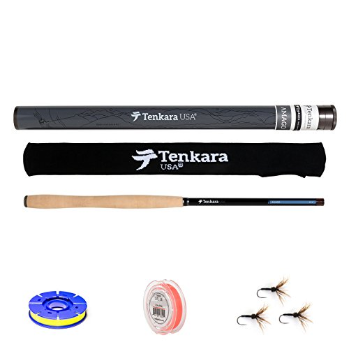 Tenkara USA Amago 13ft. 6in. Rod, Line, Flies, Spool Set For Sale