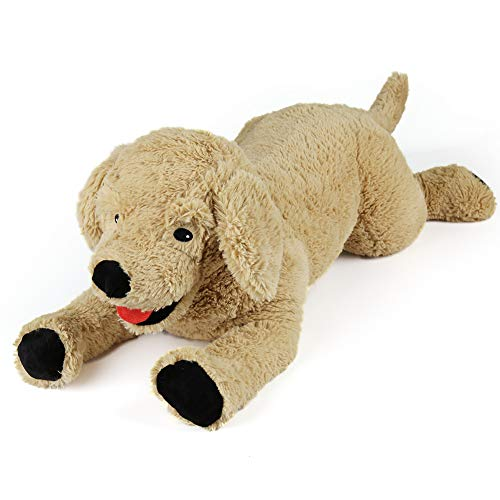 Dog Stuffed Animals, Soft Cuddly Golden Retriever Plush Toys, Stuffed Puppy Dog Toy, Gifts for Kids, Pets, Beige ()