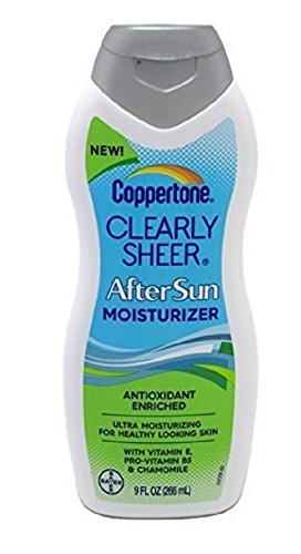 Coppertone Clearly Sheer After Sun Moisturizer 9oz 2 Pack